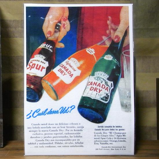アメリカンポスター【カナダドライ】アドバタイジングポスター ドリンクポスターの画像