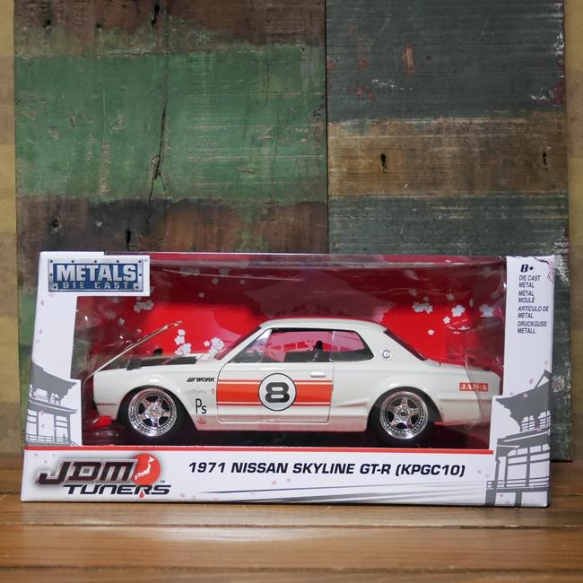 1971 Nissan Skyline 2000 GT-R スカイライン ミニカー JADA アメリカン雑貨の画像