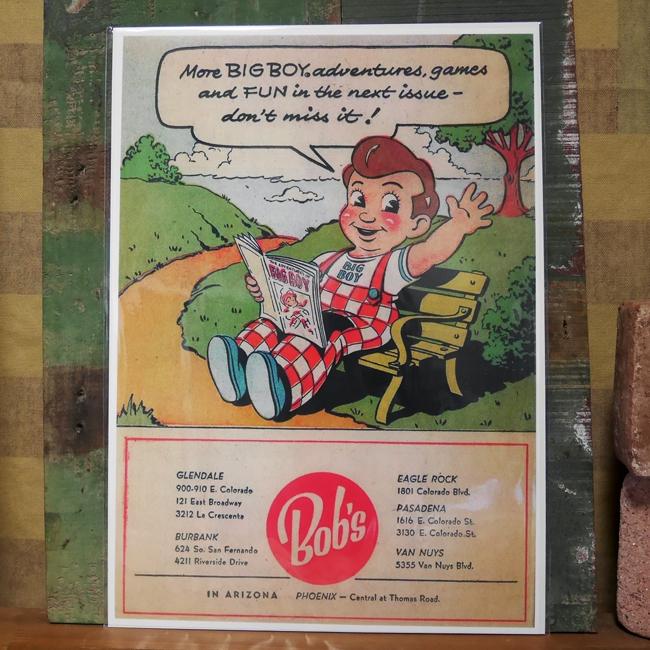 アメリカンポスター【ビッグボーイ】アメリカキャラクターポスター アメリカン雑貨の画像