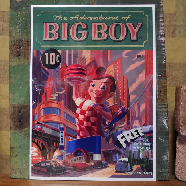 アメリカンポスター【3Dビッグボーイ】アメリカキャラクターポスター アメリカン雑貨の画像