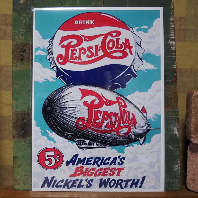 アメリカンポスター【ペプシコーラ】ドリンクポスター アメリカン雑貨の画像