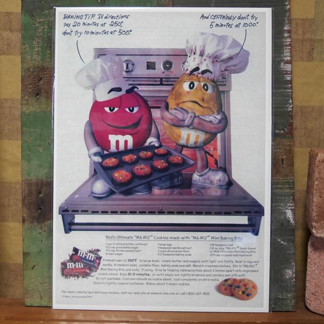 アメリカンポスター【エム&エムズ】キャラクターポスター アメリカン雑貨の画像