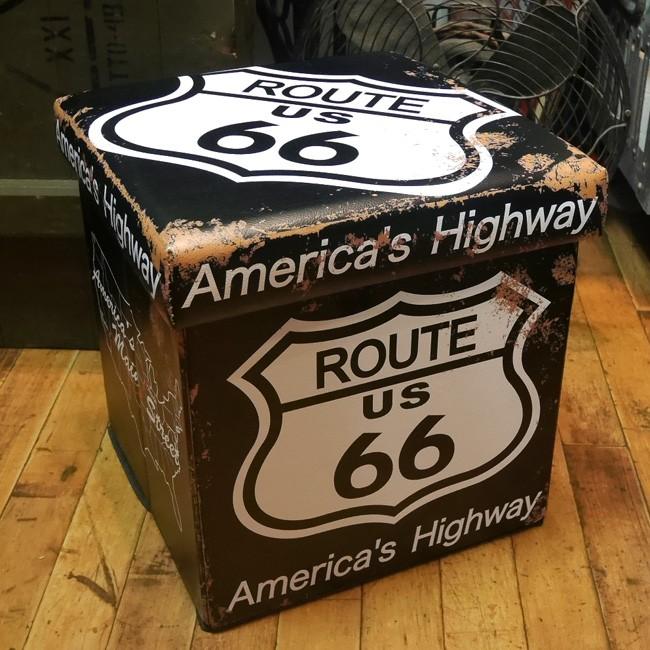 アメリカン 収納 折り畳み スツール 椅子 フォールディングスツール 収納ボックス  アメリカン雑貨画像