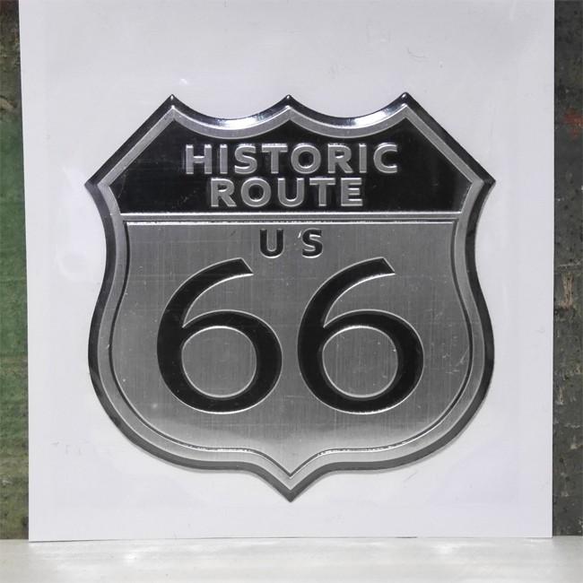 ROUTE66 スチール ステッカー ルート66 ステッカー アメリカン雑貨 画像