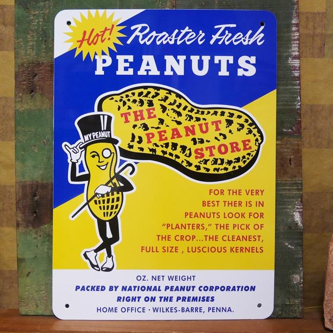Mr.PEANUTS STORE プラスチック サインプレート ミスター ピーナッツ インテリアボード アメリカン雑貨の画像