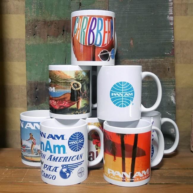パンナム マグカップ 陶器製 PANAM アメリカン雑貨の画像