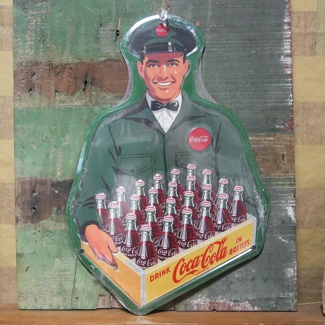 コカ・コーラ ティンサイン デリバリーマン ブリキ看板 Coca-Cola アメリカン雑貨の画像