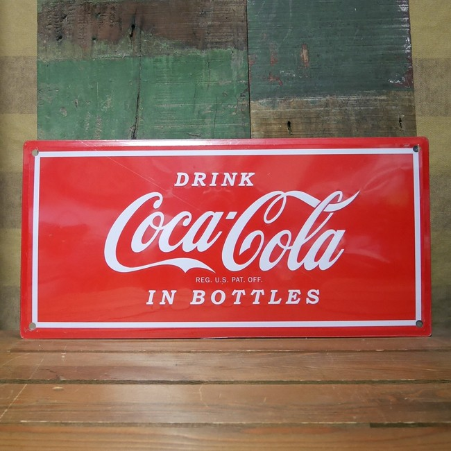 コカコーラ ティンサイン ドリンクサイン ブリキ看板 Coca-Cola アメリカン雑貨の画像