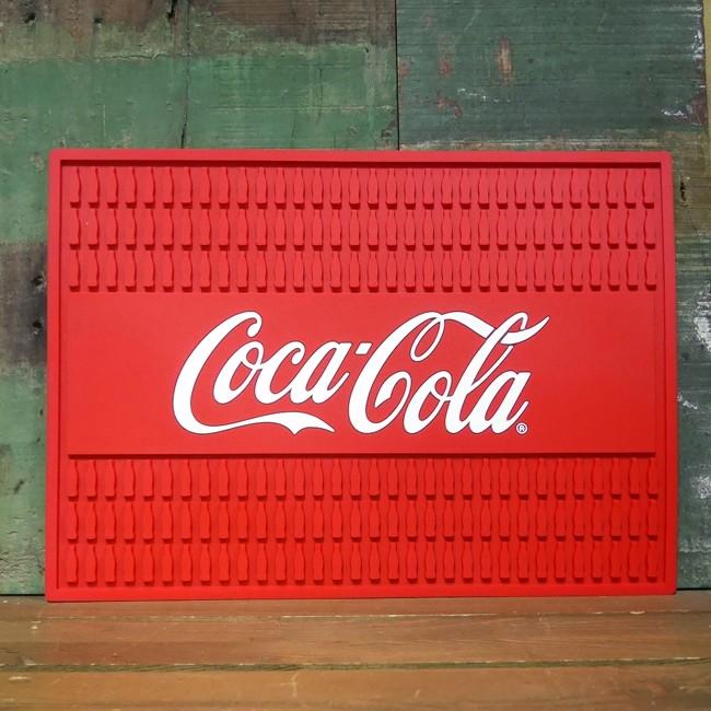 コカコーラ ラバーマット CocaCola バーマット アメリカン雑貨の画像