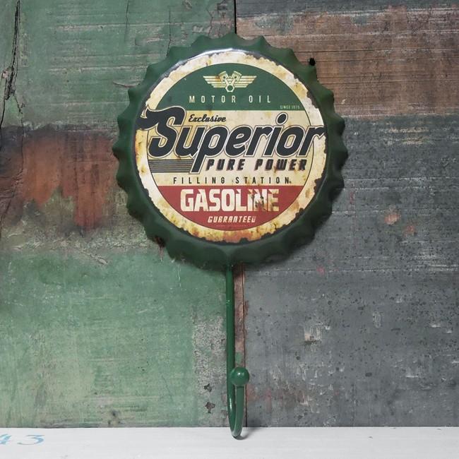 Superior ボトルキャップ フックハンガー アメリカン雑貨 ウォールハンガーの画像