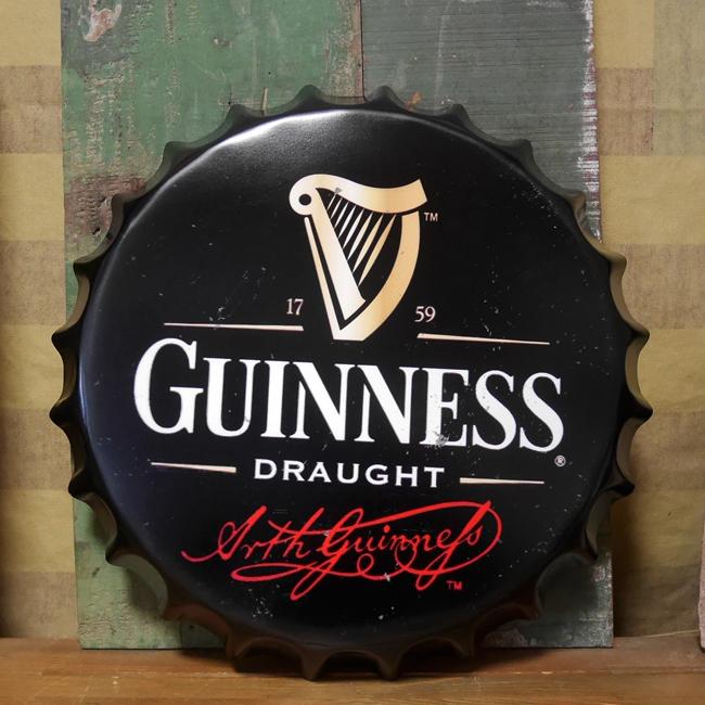 ギネスビール 王冠型 ブリキ看板 インテリア メタルサインプレート  アメリカン雑貨の画像