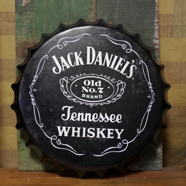 ジャックダニエル 王冠型 ブリキ看板 インテリア メタルサインプレート  アメリカン雑貨の画像