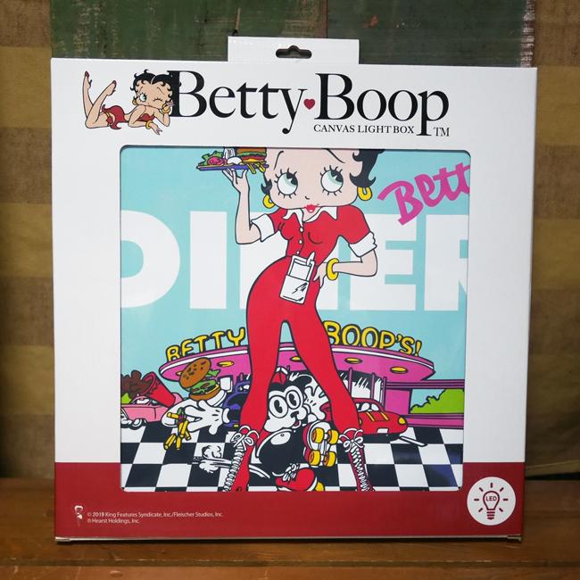 ベティブープ DINER LEDキャンバスライト Betty Boop ウォールインテリア アメリカン雑貨画像
