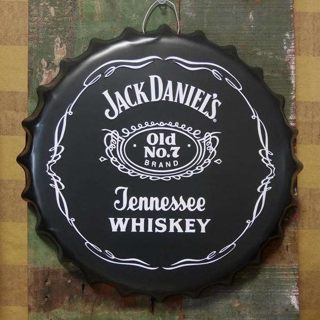 ジャックダニエル 王冠型 ブリキ看板 インテリア エンボスメタルサインプレート  アメリカン雑貨の画像