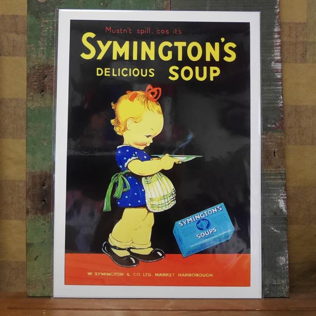 SYMINGTON'S SOUP ポスター インテリア シミントンスープ アメリカン雑貨の画像