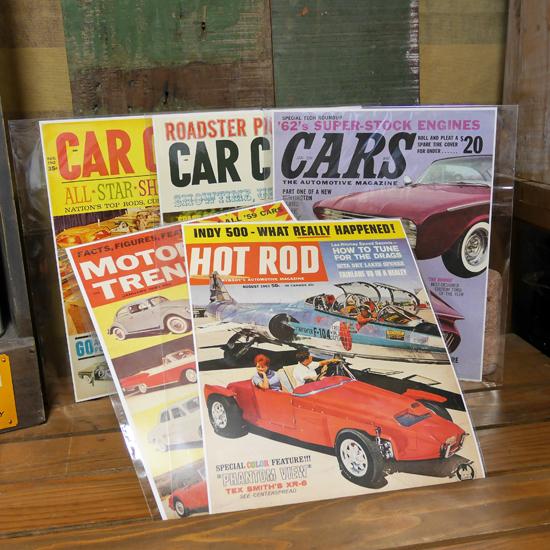 モーター系レトロミニポスター ホットロッド モーター雑誌ポスターの画像