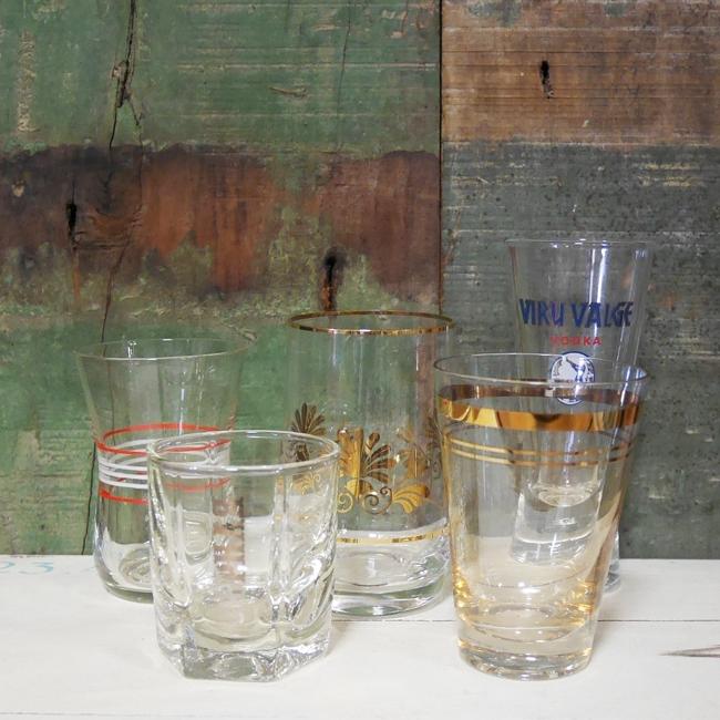 アンティーク エストニア ヴィンテージ ショットグラス レトロ コップ ビンテージの画像