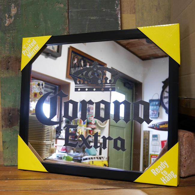 コロナ パブミラー インテリア ウォールミラー 鏡 CORONA  EXTRA ガレージミラーアメリカン雑貨の画像