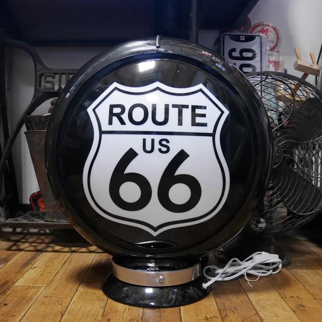 ガスランプ ルート66 インテリア ネオンサイン ROUTE66ランプ アメリカン雑貨の画像