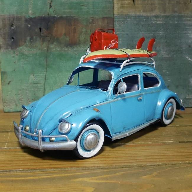 ビートル サーフ 自動車 インテリア フォルクスワーゲン タイプ ブリキのおもちゃ アメリカン雑貨画像