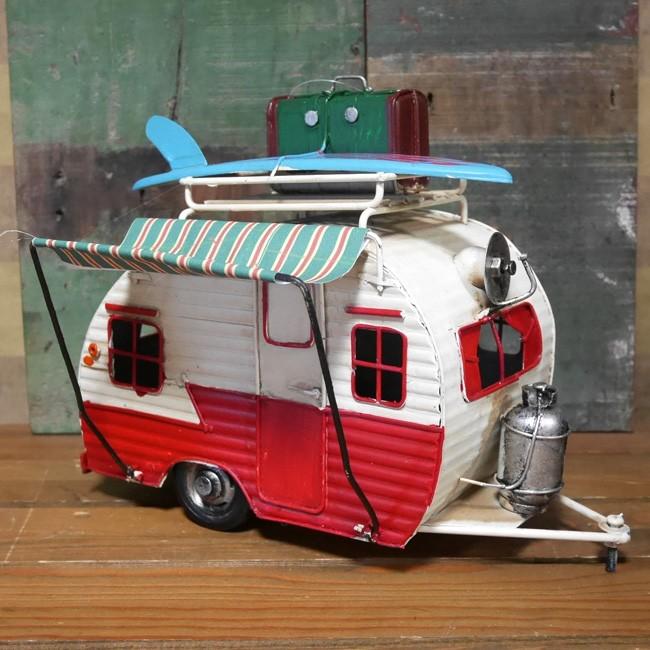 サーフトレーラー 自動車 インテリア  ブリキのおもちゃ アメリカン雑貨画像