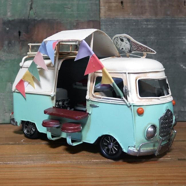 キッチンバスカフェ 自動車 インテリア ワーゲンバス タイプ ブリキのおもちゃ アメリカン雑貨画像