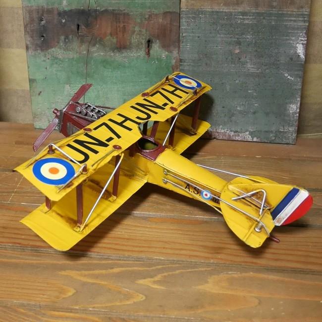 ヴィンテージ プレーン FR-YL インテリア 飛行機 ブリキのおもちゃの画像