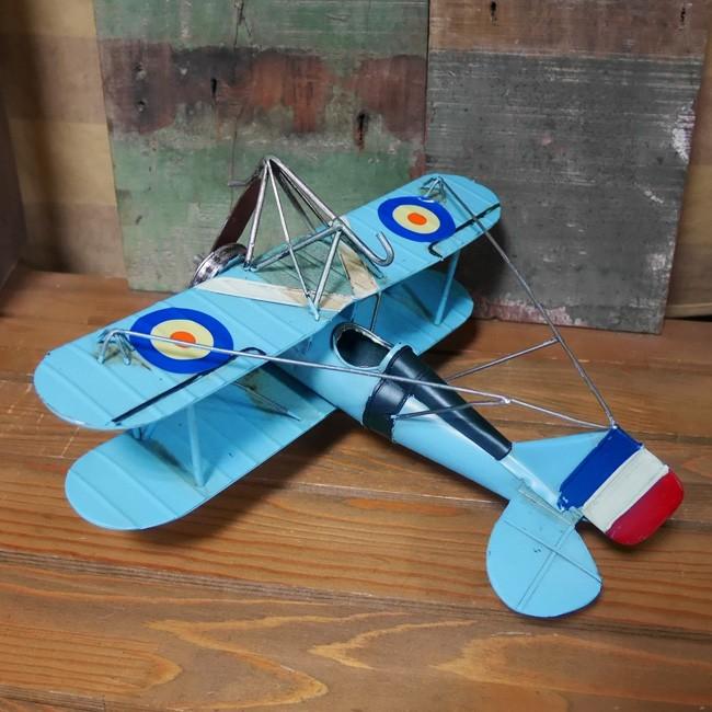ヴィンテージ プレーン FR-BL インテリア 飛行機 ブリキのおもちゃの画像