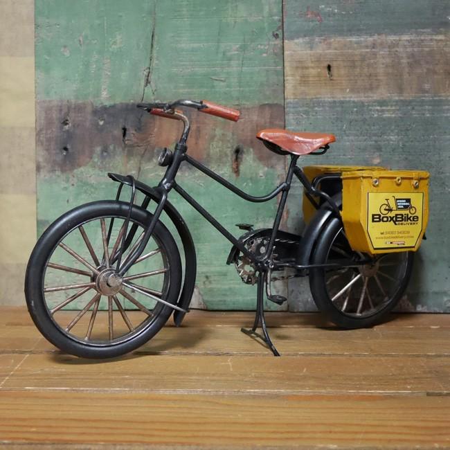 ブリキのおもちゃ デリバリー 自転車 グッドオールド インテリア アンティークタイプ ブリキのおもちゃ ブリキ製自転車 アメリカン雑貨の画像