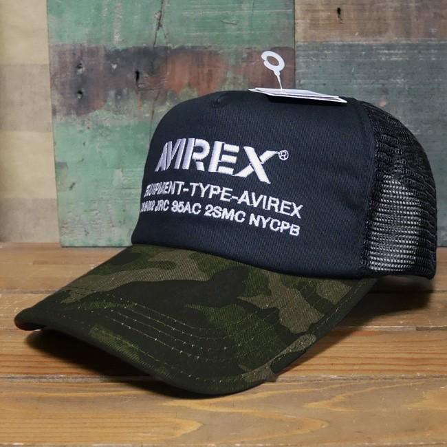 AVIREX 帽子 NUMBERING メッシュキャップ アヴィレックス ミリタリー アメカジ アメリカン雑貨の画像