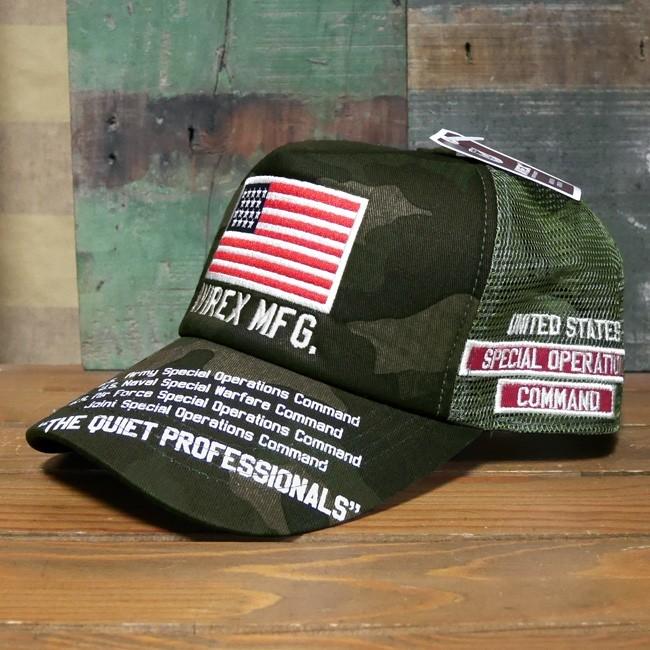 AVIREX 帽子 USA TQP メッシュキャップ アヴィレックス ミリタリー アメカジ アメリカン雑貨の画像