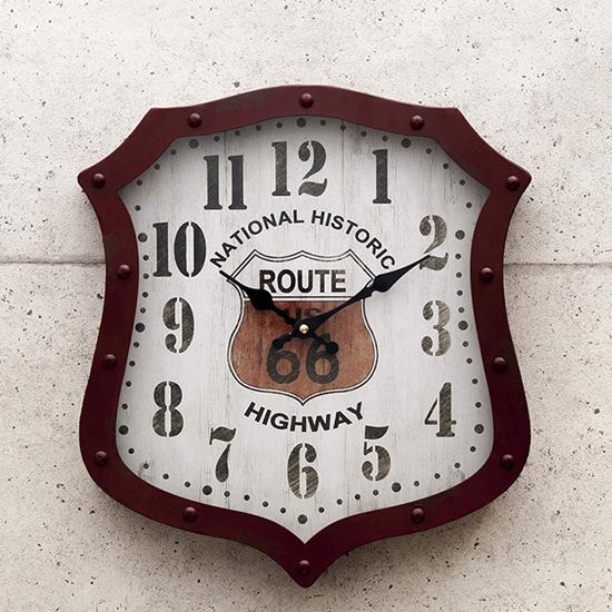 ルート66アメリカンクロック 掛け時計 アメリカン雑貨の画像