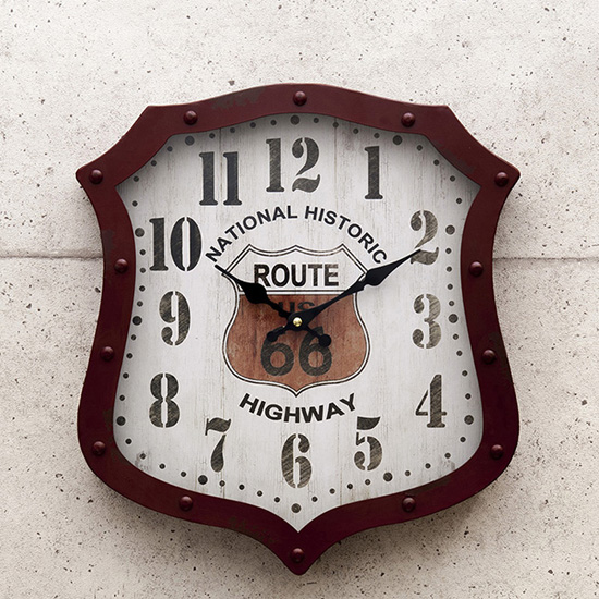 ルート66アメリカンクロック 掛け時計 アメリカン雑貨画像
