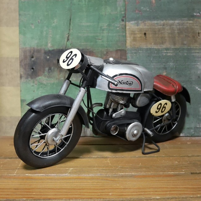 ブリキのおもちゃ Norton オートバイ ガレージインテリア ノートン アメリカン雑貨の画像