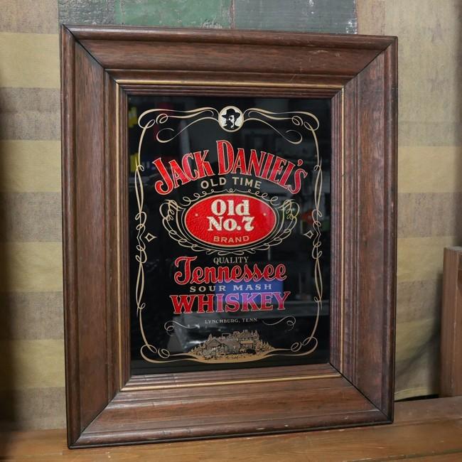 アンティーク パブミラー ジャックダニエル 鏡 JACK DANIEL'S レトロインテリア アンティークミラー画像