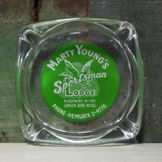 ユーズド ホテルアッシュトレイ MARTY YOUNG'S レストラン灰皿 アンティーク 灰皿の画像