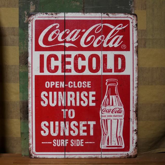 木製看板 コカコーラ ウッドボード コカ・コーラサインボード アメリカン雑貨画像