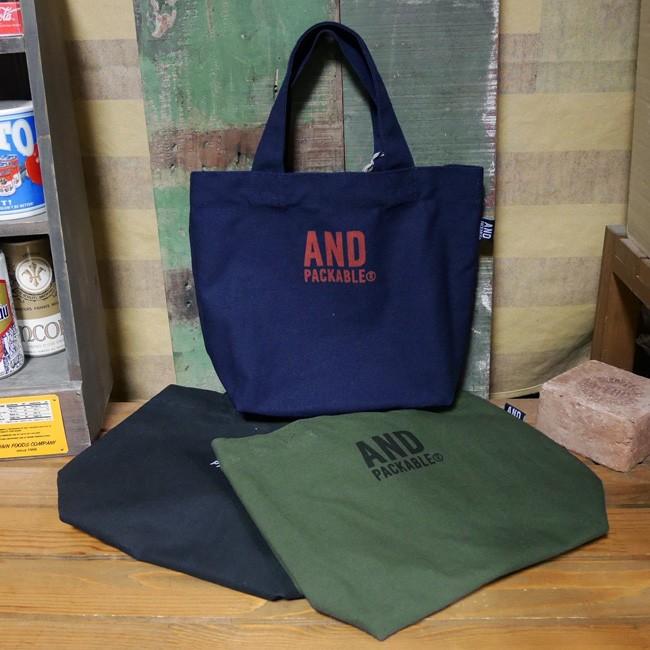 アンドパッカブル ミニトートバッグ AND PACKABLE 帆布 ランチトートバッグ アメリカン雑貨の画像