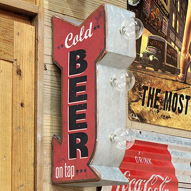 BEER  オフ ザ ウォール LED ビアサイン ウォールインテリア アメリカン雑貨画像