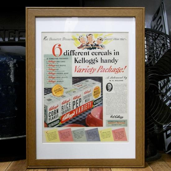 インテリアピクチャー LIFE誌アンティーク 広告 ポスター額 アメリカンインテリアの画像