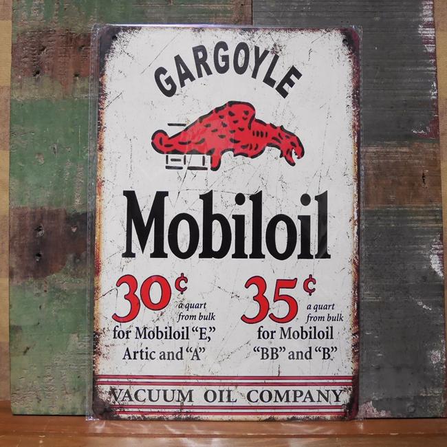 モービルオイル サイン看板 ガレージインテリア ブリキ看板  アメリカン雑貨画像
