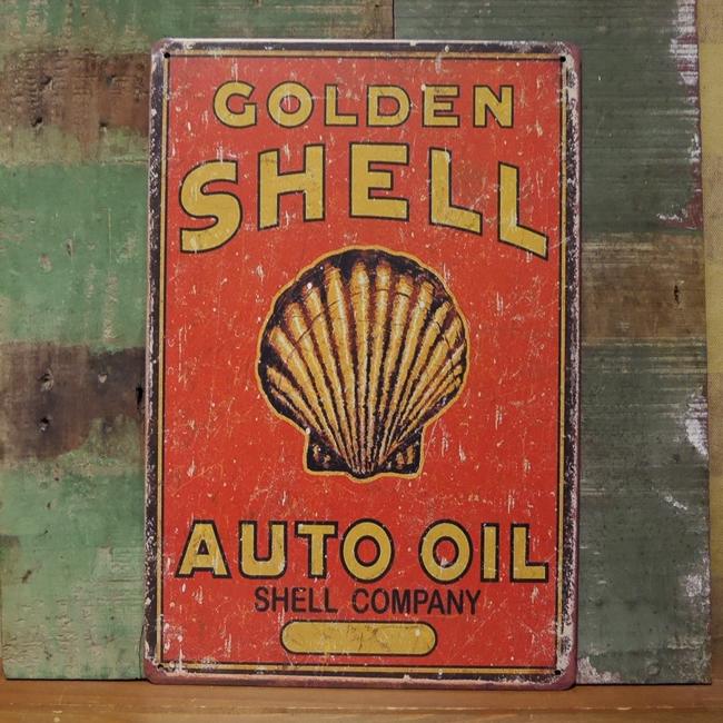 シェルオイル サイン看板 ガレージインテリア ブリキ看板  アメリカン雑貨画像