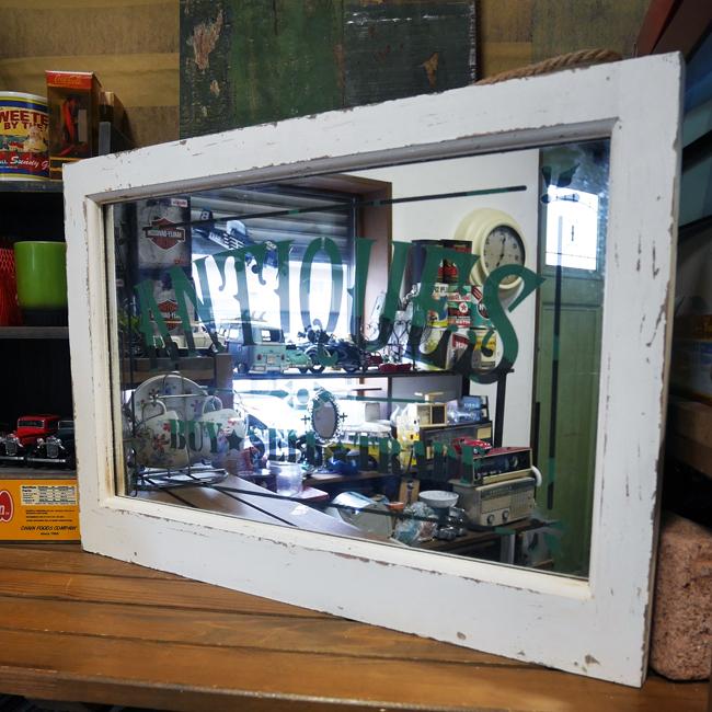 【SALE】アンティークス・ミラーフレーム ウォールミラー 鏡 ウォールデコ レトロミラー 画像