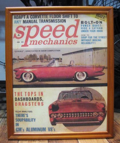 インテリアピクチャー 【SPEED】 レトロカー雑誌ポスター額 アメリカンインテリアの画像