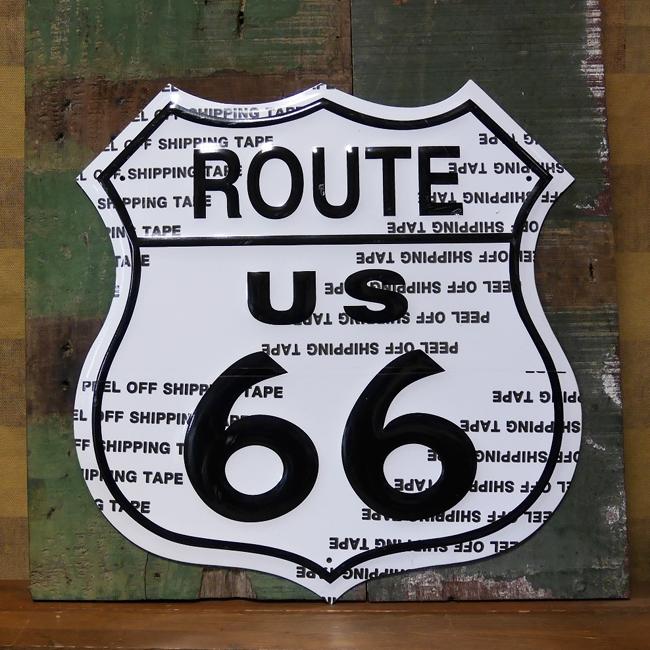 ルート66プレート ダイカットブリキ看板 ROUTE66ティンサイン アメリカン雑貨画像
