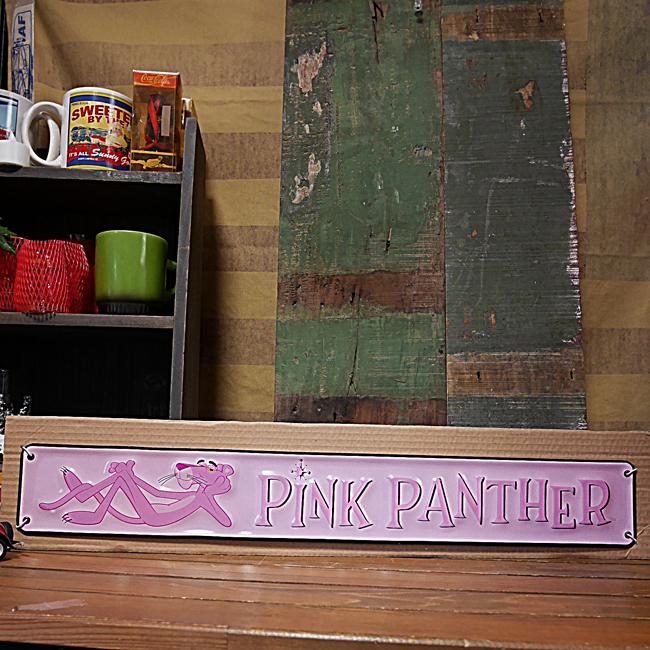 ピンクパンサー エンボスメタルサイン  ブリキ看板 アメリカンコミック アメリカン雑貨画像