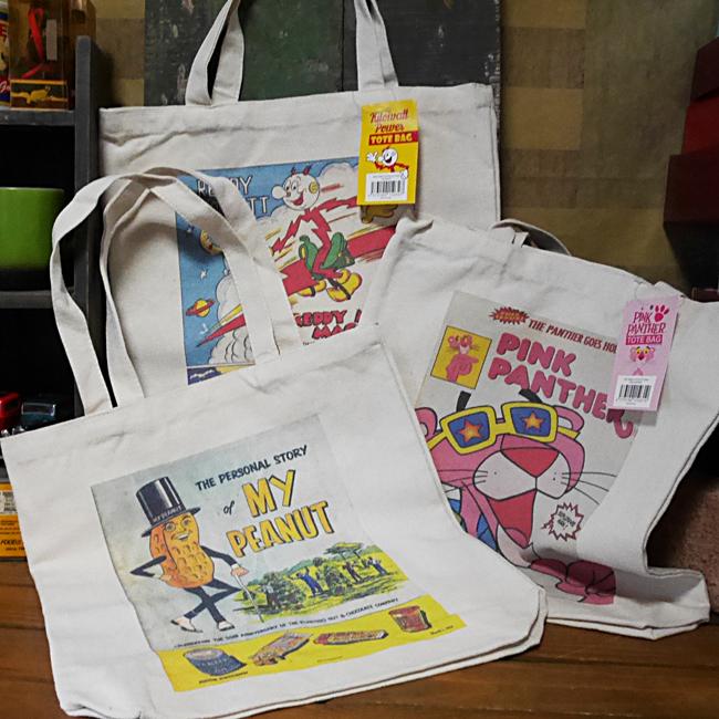 アメリカン コミックトートバック エコバッグ ピンクパンサー MR.ピーナッツ レディキロワット画像