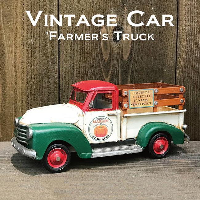 ヴィンテージカー ファーマーズトラック  インテリア ブリキのおもちゃ アメリカン雑貨画像