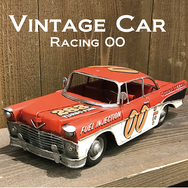 ヴィンテージカー レーシング00  インテリア ブリキのおもちゃ アメリカン雑貨画像