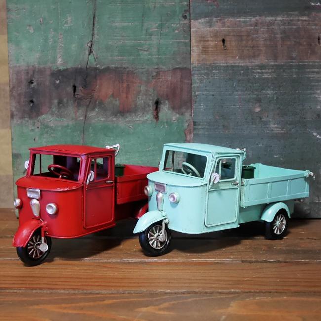 ヴィンテージカー  3 Wheel MZT ブリキのおもちゃ ミゼット 三輪車  アメリカン雑貨画像